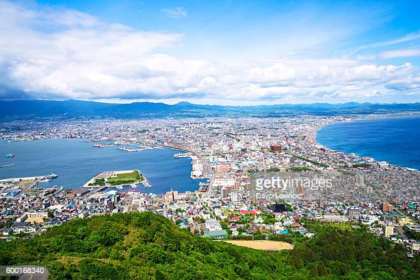 Hakodate Top view on Hokkaido, Japan