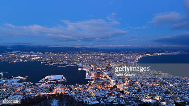 Hakodate with snow
