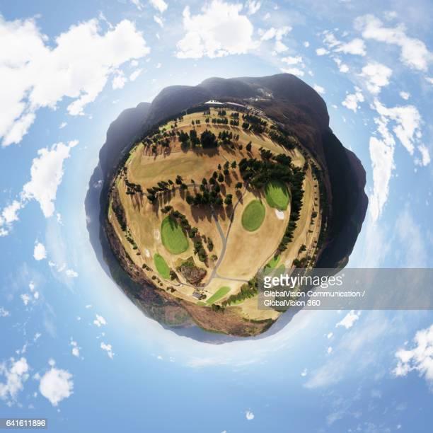 Hakone Yunohana Golf Course's 360° Aerial Little Planet