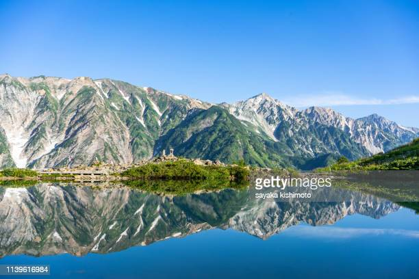 hakuba mountain - land feature stock pictures, royalty-free photos & images