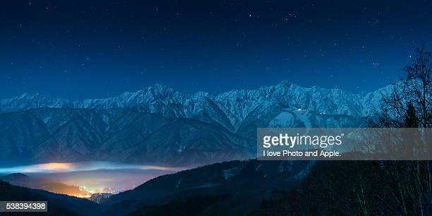 hakuba village dream - land feature stock pictures, royalty-free photos & images