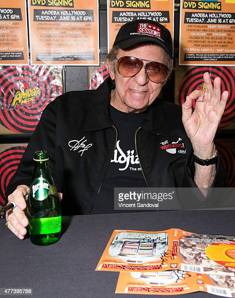 Hal Blaine attends The Wrecking Crew DVD release party at Amoeba Music on June 16 2015 in Hollywood California
