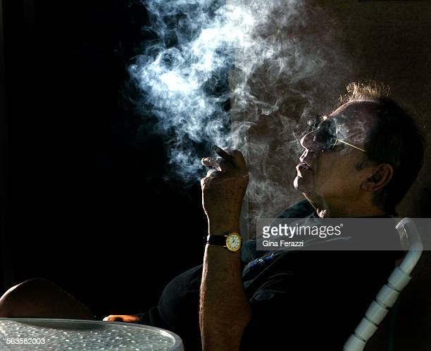 Hal Blaine one of the most famous drummers in the history of pop music relaxes with his favorite cigar at his home in Palm Desert