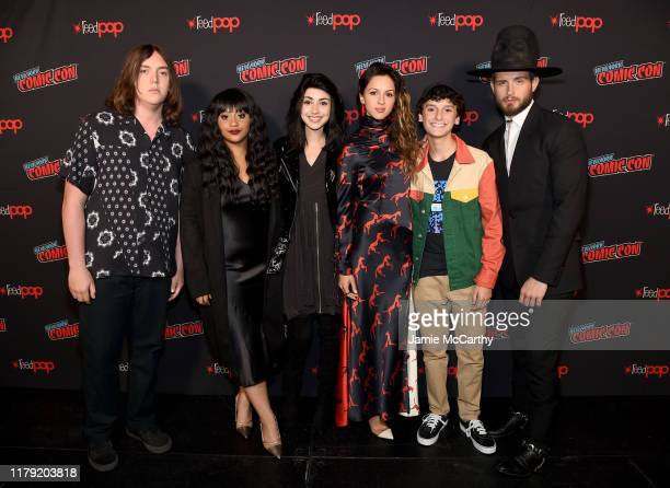 Hal Cumpston Aliyah Royale Alexa Mansour Annet Mahendru Nicolas Cantu and Nico Tortorella attend a panel for AMC's The Walking Dead Universe...
