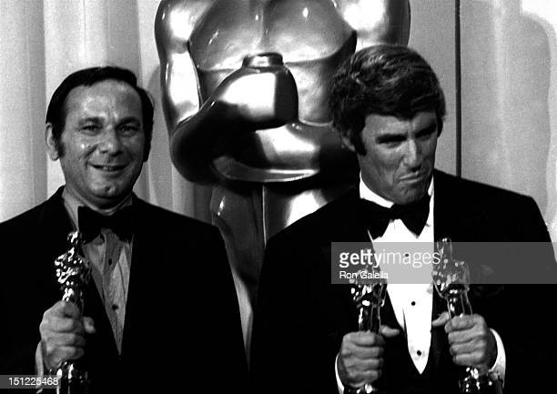Hal David and Burt Bacharach attends 42nd Annual Academy Awards on April 7, 1970 at the Dorothy Chandler Pavilion in Los Angeles, California.