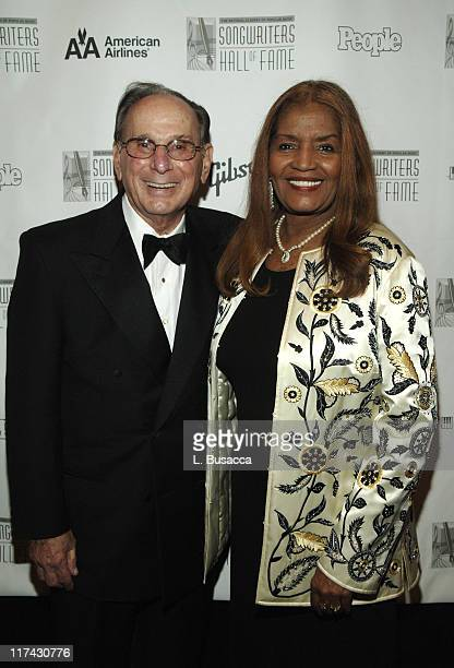 Hal David and Sylvia Moy inductee during 37th Annual Songwriters Hall of Fame Ceremony VIP Cocktail Reception and Backstage at Marriott Marquis in...
