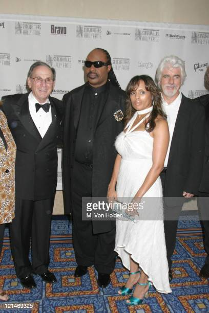 Hal David Stevie Wonder Wife Michael McDonald during 35th Annual Songwriters Hall of Fame Awards at Marriott Marquis in New York New York United...