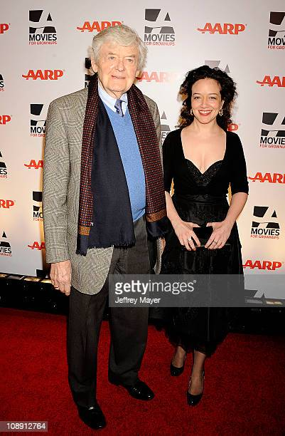 Hal Holbrook and Ginna Carter attend the AARP The Magazine's 10th Annual Movies for Grownups Award Gala at The Beverly Hilton hotel on February 7...