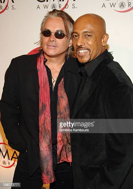 Hal Ketchum and Montel Williams during The 39th Annual CMA Awards Arrivals at Madison Square Garden in New York City New York United States