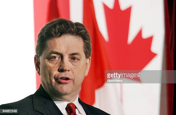 Hal Kvisle CEO of TransCanada Corp speaks during the opening session of the CAN>WIN 04 business forum in Toronto Ontario Canada on Thursday February...