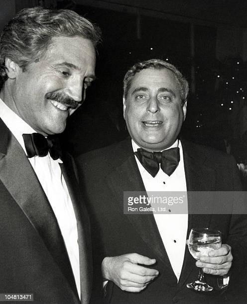 Hal Linden and Fred Silverman during Bob Hope's 30th Anniversary Party at NBC's Burbank Studio in Burbank California United States