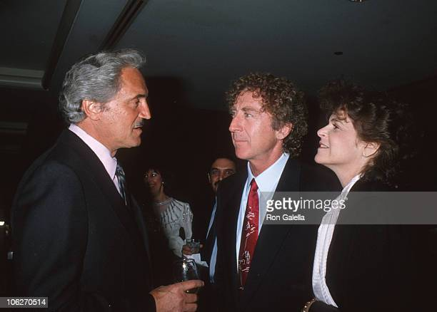 Hal Linden Gene Wilder and Gilda Radner during Wellness Center Benefit January 30 1989 at Wellness Center Century Tower in Century City California...