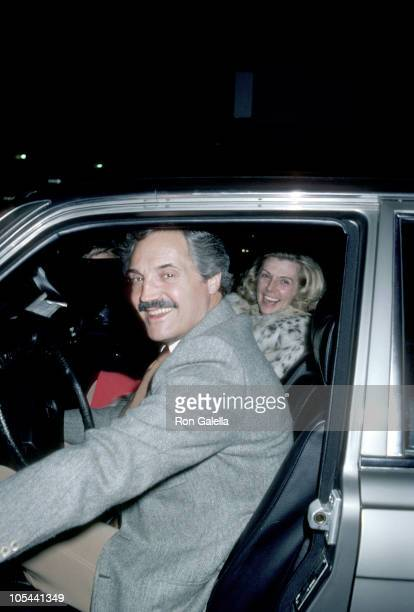 Hal Lindon with wife during Leaving Bistro Restaurant 1981 at Bistro in Beverly Hills California United States