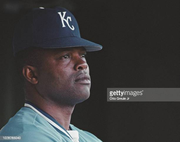 Hal McRae Manager for the Kansas City Royals during the Major League Baseball American League West game against the California Angels on 2 July 1991...
