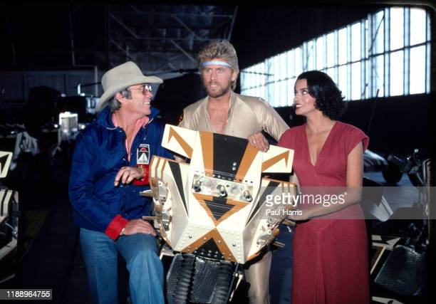 Hal Needham Barry Bostwick and Persis Khambatta Megaforce was about a hightech soldier Barry Bostwick with a flying motorcycle who lead troops to the...
