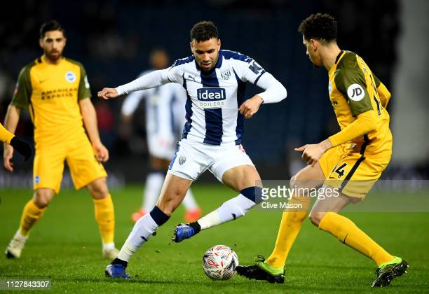 Hal Robson-Kanu in action during the FA Cup Fourth Round Replay match between West Bromwich Albion and Brighton & Hove Albion at The Hawthorns on...