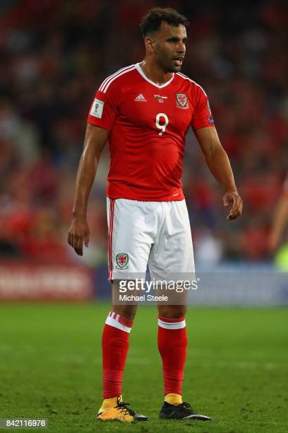 Hal RobsonKanu of Wales during the FIFA 2018 World Cup Qualifier Group D match between Wales and Austria at Cardiff City Stadium on September 2 2017...