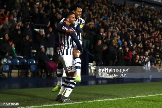 Hal Robson-Kanu of West Bromwich Albion celebrates after scoring a goal to make it 1-0 during the Sky Bet Championship match between West Bromwich...