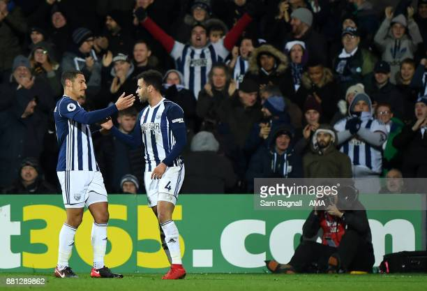 Hal RobsonKanu of West Bromwich Albion celebrates after scoring a goal to make it 10 during the Premier League match between West Bromwich Albion and...