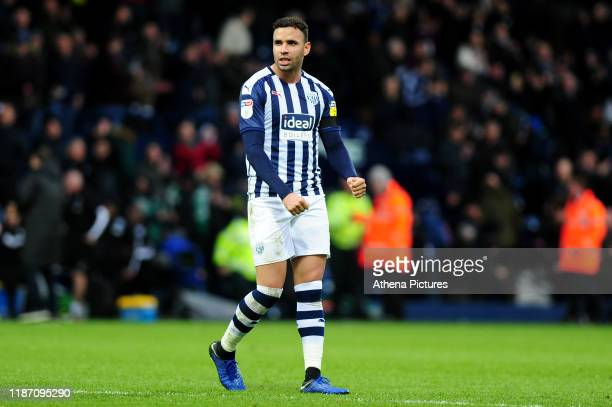 Hal Robson-Kanu of West Bromwich Albion celebrates at full time during the Sky Bet Championship match between West Bromwich Albion and Swansea City...