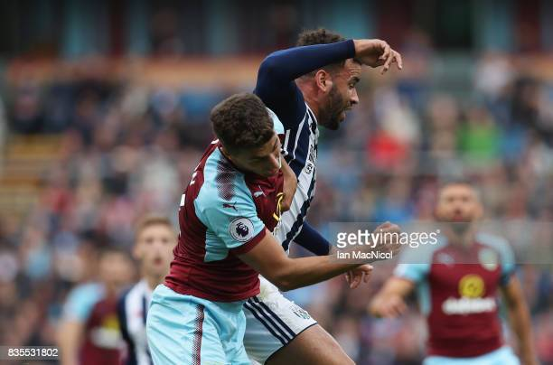 Hal RobsonKanu of West Bromwich Albion fouls Matthew Lowton of Burnley and is later sent off for the challenge during the Premier League match...