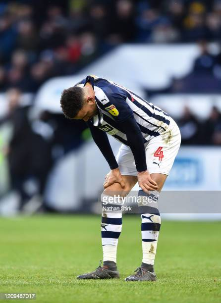 Hal Robson-Kanu of West Bromwich Albion reacts at the final whistle during the Sky Bet Championship match between West Bromwich Albion and Wigan...