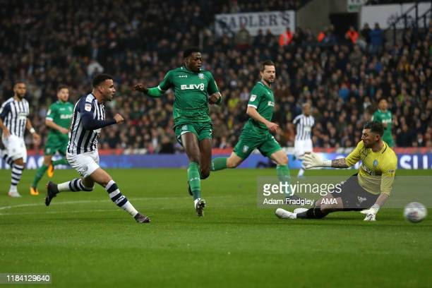 Hal Robson-Kanu of West Bromwich Albion scores a goal to make it 1-0 during the Sky Bet Championship match between West Bromwich Albion and Sheffield...