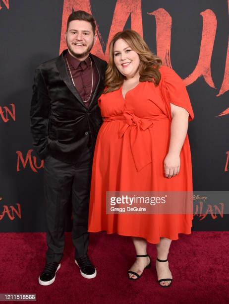 Hal Rosenfeld and Chrissy Metz attend the Premiere Of Disney's Mulan on March 09 2020 in Hollywood California
