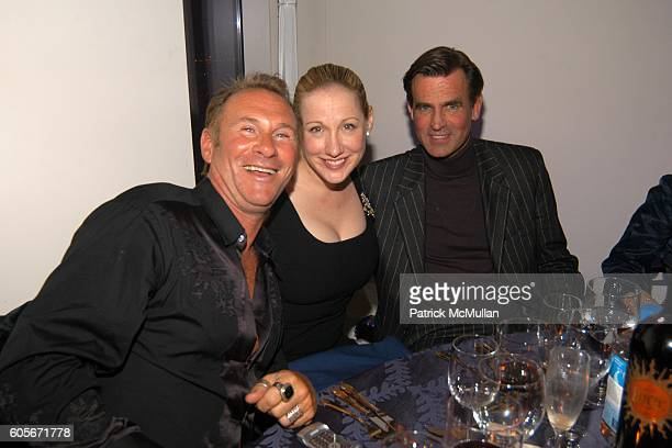 Hal Rubenstein Amy Sacco and Paul Beck attend VERSACE VIP Dinner at 1 Beacon Court on February 7 2006 in New York