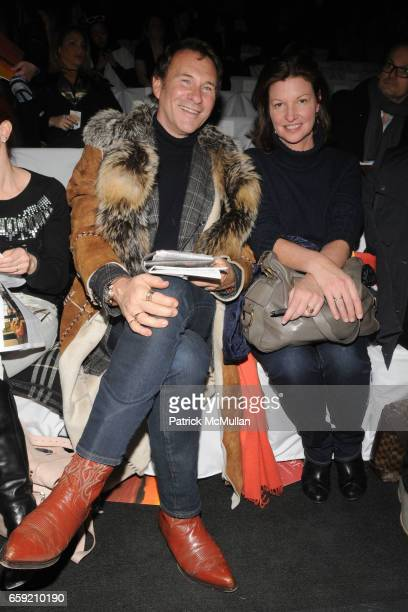 Hal Rubenstein and Cindy Weber Cleary attend DIANE VON FURSTENBERG Fall 2009 Collection at The Tent on February 15 2009 in New York City