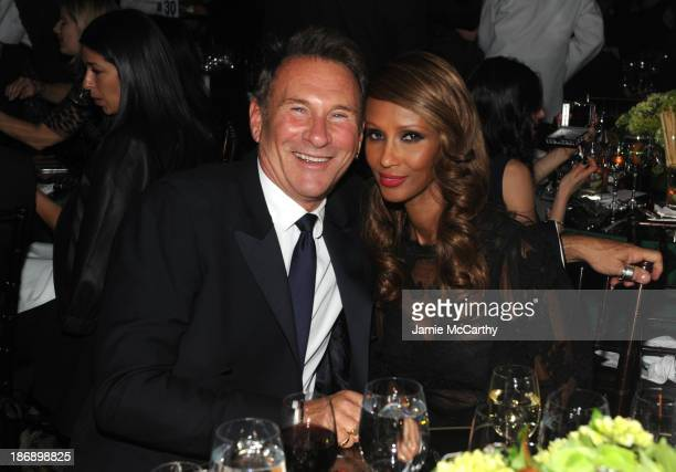 Hal Rubenstein and Iman attend the 17th Annual Accessories Council ACE Awards At Cipriani 42nd Street on November 4 2013 in New York City