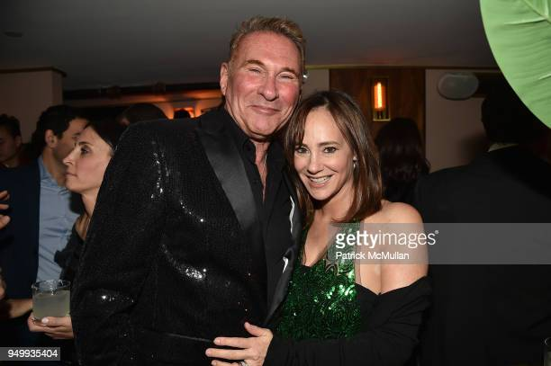 Hal Rubenstein and Lisa Fields attend Billy Macklowe's 50th Birthday Spectacular at Chinese Tuxedo on April 21 2018 in New York City