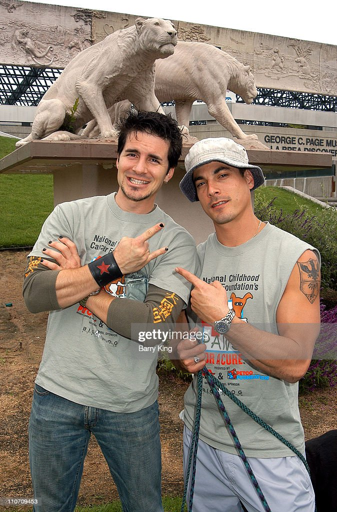 Hal Sparks & Bryan Dattilo during 4 Paws For A Cure Dogwalk to Fun National Childhood Cancer Foundation at La Brea Tar Pits in Los Angeles, California, United States.