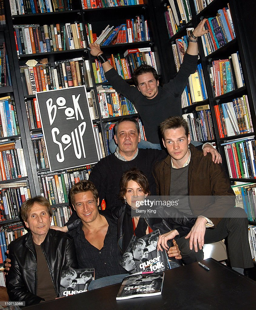 Hal Sparks (in back), Executive Producer Daniel Lipman and Peter Paige (second row) and Executive Producer Ron Cowen, Robert Gant and Michelle Clunie