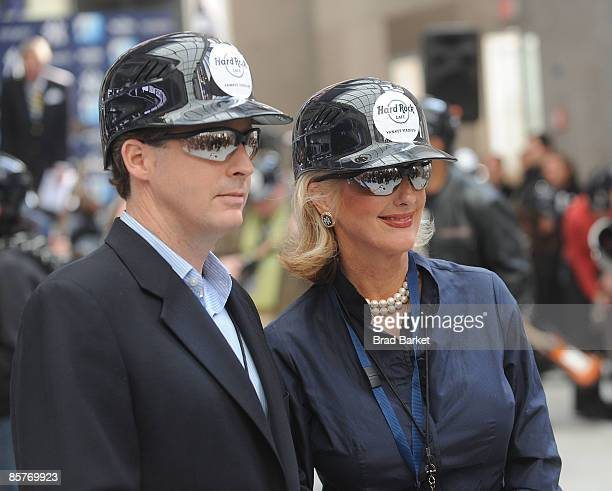 Hal Steinbrenner and Jennifer Steinbrenner Swindal attend the opening of the Hard Rock Cafe at Yankee Stadium on April 2 2009 in Bronx borough of New...