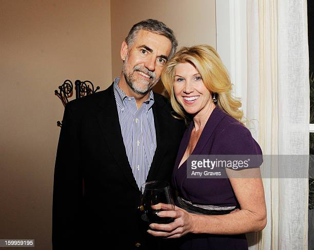 Hal Washburn and Kevyn Wynn attend Kevyn and Elaine Wynn's Dinner for Communities In Schools on January 23 2013 in Brentwood California