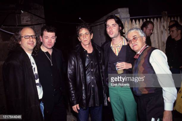 Hal Willner Gavin Friday Lou Reed Rufus Wainwright and Van Dyke Parks at at Harry Smith Tribute Concert at St Ann's Church in Brooklyn New York on...