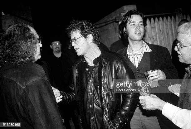 Hal Willner Lou Reed Rufus Wainwright and Van Dyke Parks at Harry Smith Tribute Concert at St Ann's Church in Brooklyn New York on November 12 1999
