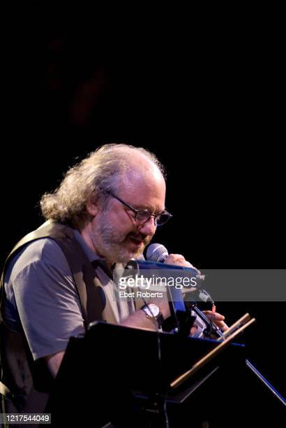 Hal Willner speaking at the Doc Pomus Project at Celebrate Brooklyn held at the Prospect Park Bandshell in Brooklyn New York on July 21 2007