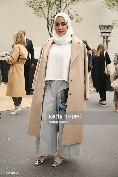 Hala Al Gergawi seen Joseph during Paris Fashion Week Spring/Summer 2017 on October 2, 2016 in Paris, France.