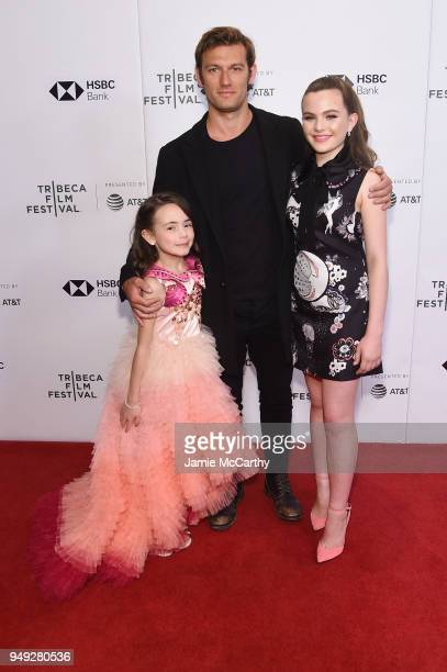 Hala Finley Alex Pettyfer and Chiara Aurelia attend the screening of 'Back Roads' during the Tribeca Film Festival at Cinepolis Chelsea on April 20...