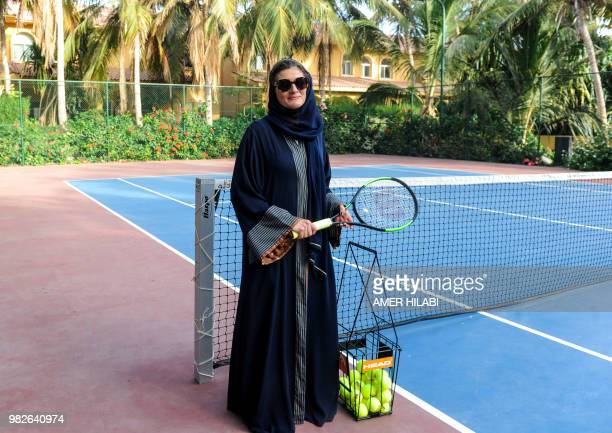 Hala Hussein Alireza a newlylicensed Saudi motorist arrives at a tennis court after driving there for the first time in the Red Sea coastal city of...