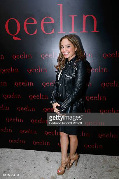 Hala Salem Achillas attends the 'Qeelin' high Jewellery Exhibition opening Cocktail 'Mogoaku in Paris' at Jardin du Palais Royal on June 30 2014 in...