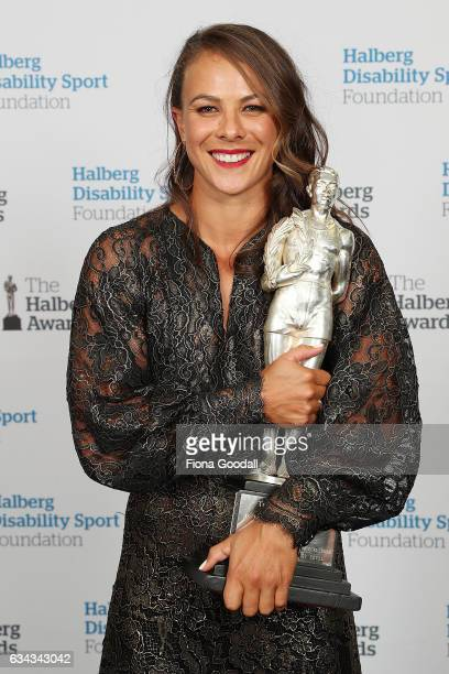 Halberg Award winner Olympic Canoeist Lisa Carrington at the 54th Halberg Awards at Vector Arena on February 9 2017 in Auckland New Zealand