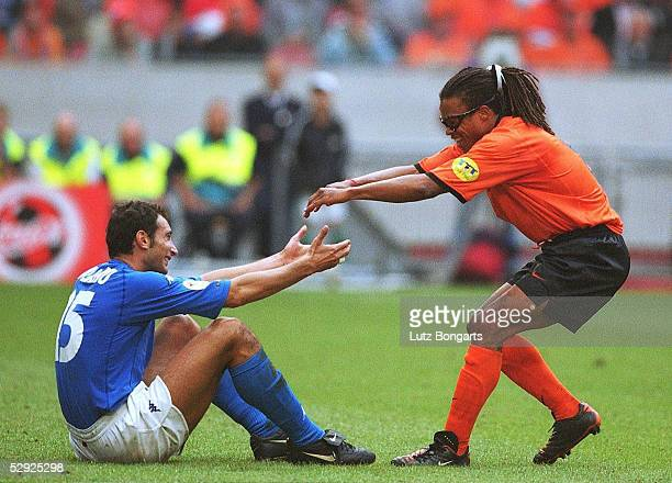 Halbfinale Amsterdam ITALIEN NIEDERLANDE nE 31 Mark IULIANO/ITA Edgar DAVIDS/HOL