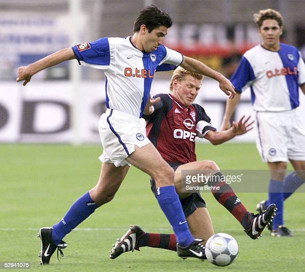 LIGAPOKAL 2001 Halbfinale Augsburg HERTHA BSC BERLIN FC BAYERN MUENCHEN 10 Kostas KONSTANTINIDIS/HERTHA Stefan EFFENBERG/BAYERN