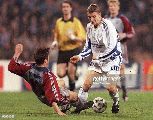 Halbfinale Kiew DYNAMO KIEW FC BAYERN MUENCHEN 33 Lothar MATTHAEUS/Bayern Muenchen gegen Andrei SHEVTCHENKO/KIEW