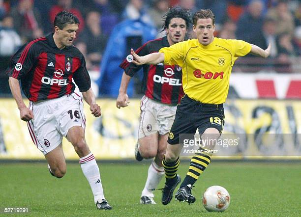 POKAL 01/02 Halbfinale Mailand AC MAILAND BORUSSIA DORTMUND 31 Jose CHAMOT Gennaro GATTUSO/MAILAND Lars RICKEN/DORTMUND