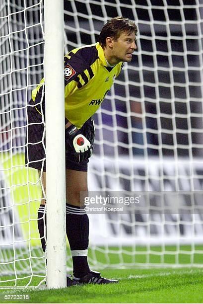 POKAL 2002 Halbfinale Meppen FC SCHALKE 04 BAYER 04 LEVERKUSEN 20 TORWART Frank JURIC/LEVERKUSEN
