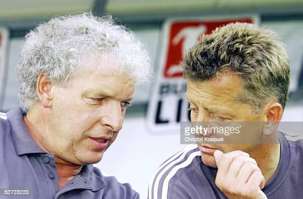 POKAL 2002 Halbfinale Meppen FC SCHALKE 04 BAYER 04 LEVERKUSEN 20 TRAINER Klaus TOPPMOELLER COTRAINER Peter HERMANN/LEVERKUSEN